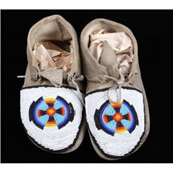 Sioux Beaded Moccasins c. 1900-1940's