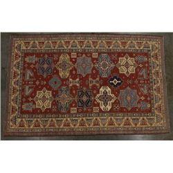 Large Hand Woven Sarouk Wool Rug