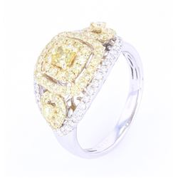 VS1-VS2 Fancy Yellow Diamond 1.50 ct 14K Gold Ring