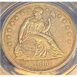 1860 0 - Seated Liberty Dollar -