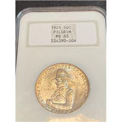 1921 Pilgrim MS 65 NGC Half Dollar