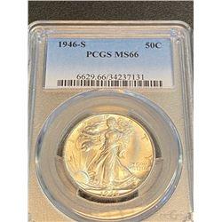 1946 s MS 66 PCGS Walking Liberty Half Dollar