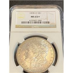 1898 o MS 65+ NGC Morgan Silver dollar