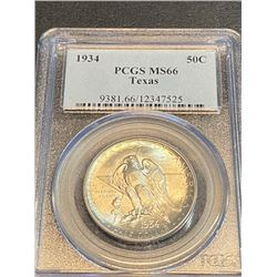 1934 MS 66 PCGS TEXAS  Half Dollar