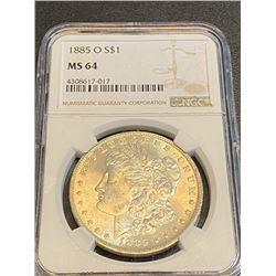 1885 o MS 64 NGC Morgan Silver Dollar