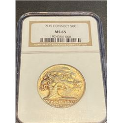 1935 MS 65 NGC - Connecticut Half Dollar