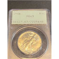 1946 MS 63 PCGS OGH Walking Liberty Half Dollar