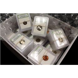 50 pcs. BU and Proof Coins in Slabs