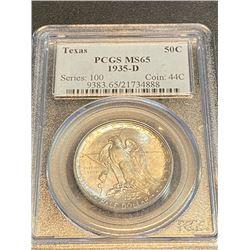 1935 D Texas MS 65 PCGS Half Dollar