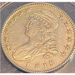 1818 / 17 Bust Half Dollar AU Grade