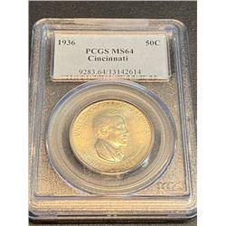 1936 Cincinnati MS 64 PCGS Half Dollar RARE!!!