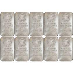 (10) 1 oz Englehard Silver Bars