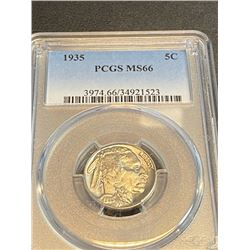 1935 MS 66 PCGS Buffalo Nickel