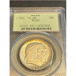 1936 Long Island MS 65 PCGS Half Dollar