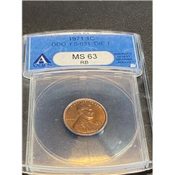 1971 DDO MS 63 D-1 Lincoln Cent