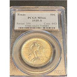 1935 S MS 66 PCGS Texas  Half Dollar
