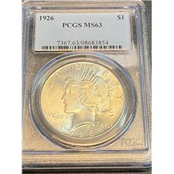 1926 MS 63 PCGS Peace Silver Dollar