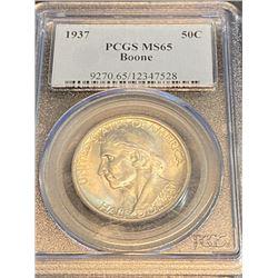 1937 MS 65 PCGS Boone Half Dollar
