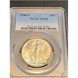 1946 s MS 65 PCGS Walking Liberty Half Dollar