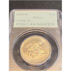 1936 D Boone MS 64 OGR Half Dollar