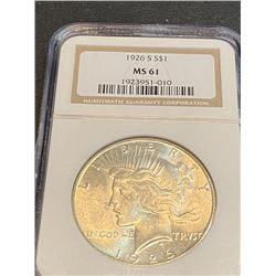 1926 s MS 61 NGC Peace Silver Dollar