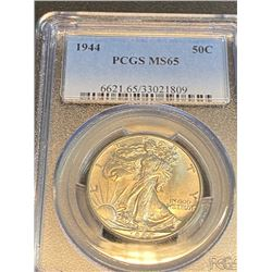 1944 MS 65 PCGS Walking Liberty Half Dollar