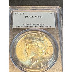 1926 s MS 64 PCGS Peace Silver Dollar