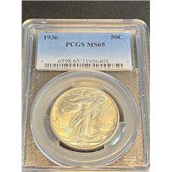 1936 MS 65 PCGS Walking Liberty Half Dollar