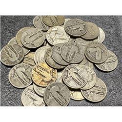 40 pcs. Standling Libety Quarters - Nice Mix