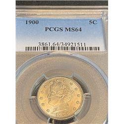 1900 MS 64 PCGS Barber Quarter RARE!