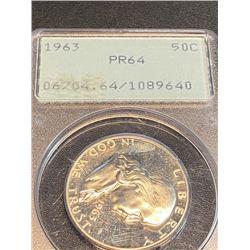 1963 PRF 64 PCGS OGR Franklin Half Dollar