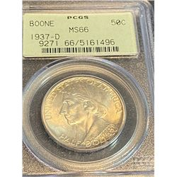 1937 d Boone MS 66 PCGS OGH