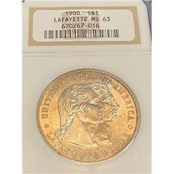 1900 Lafayette MS 63 NGC Dollar - RARE!!!