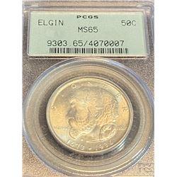 1936 Elgin MS 65 OGH PCGS  Half Dollar