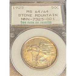 1925 MS 64 Stone Mtn. Half Dollar