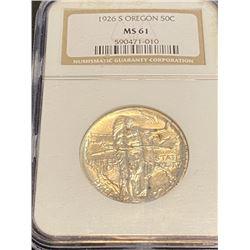1926 MS 61 NGC Oregon Half Dollar