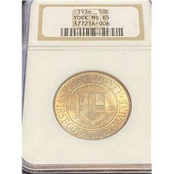 1936 York MS 65 NGC Half Dollar