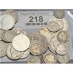 $5 Face Value ALL BARBER TYPE COINS!!!