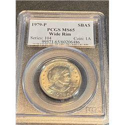 1979 P NARROW n WIDE RIM Set of 2 MS 66 SBA $1
