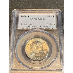 1979 s MS 66 PCGS SBA $1