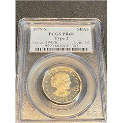 1979 s Proof 68 PCGS SBA $1 TYPE 2