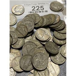 500 Pcs. WWII Jefferson Nickel