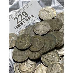 200 pcs. WWII Jefferson Nickels