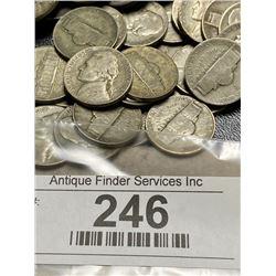 200 pcs. WWII Jefferson War Nickels