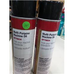 2 CANS MULTI- PURPOSE MACHINE OIL RETAILS $12 EACH