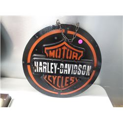 "CUSTOM MADE 3D HARLEY DAVIDSON METAL SIGN 15""X15"""