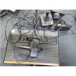 ATARI GAMING CONSOLE AND CONTROLLERS