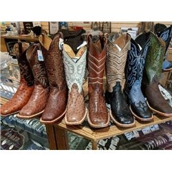 One Pair Exotic Hide Western Boots