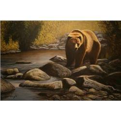"Artist's Original Painting ""Walking Along the Creek"""