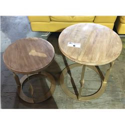 2 PIECE ROUND NEST TABLE SET